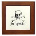 Scrapbooker - Knitter - Craft Framed Tile