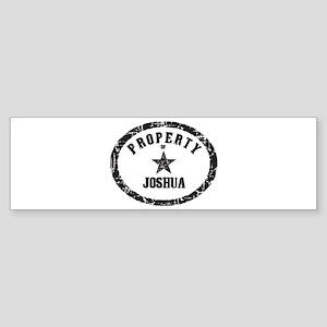 Property of Joshua Bumper Sticker