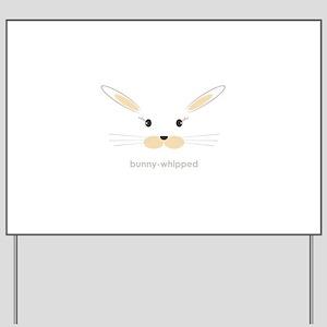 bunny face - straight ears Yard Sign