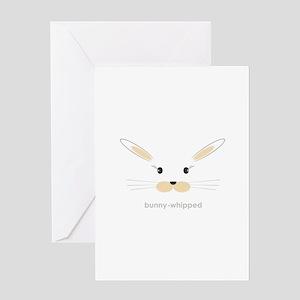 bunny face - straight ears Greeting Card