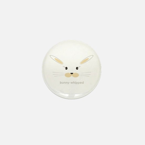bunny face - straight ears Mini Button