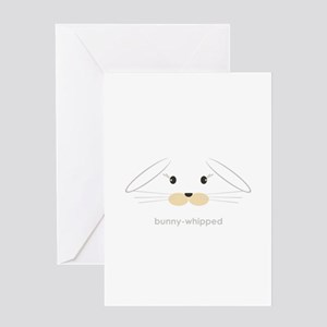 bunny face - lop ears Greeting Card