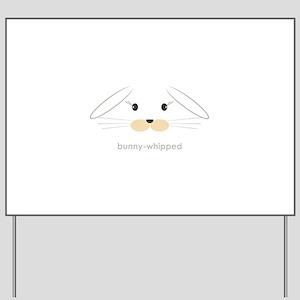 bunny face - lop ears Yard Sign