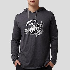 Guaranteed 100% Established 2001 Mens Hooded Shirt