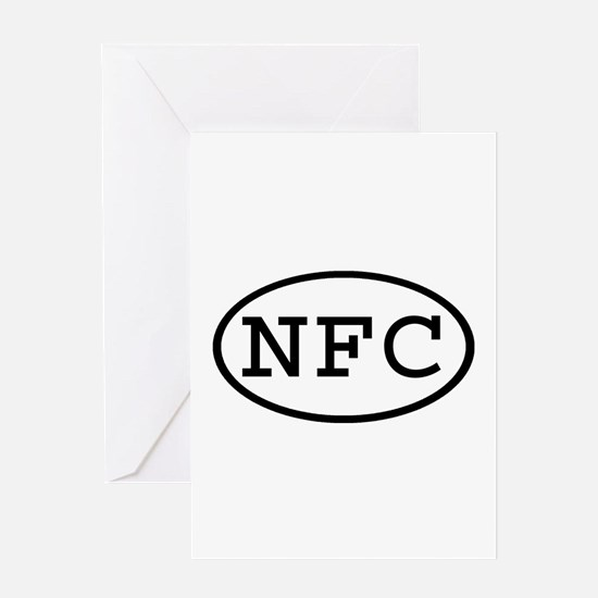 NFC Oval Greeting Card