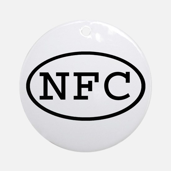 NFC Oval Ornament (Round)