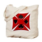 Ace Biker Iron Maltese Cross Tote Bag