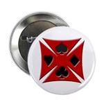 Ace Biker Iron Maltese Cross Button