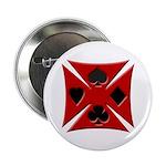 Ace Biker Iron Maltese Cross Button