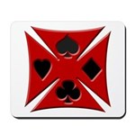 Ace Biker Iron Maltese Cross Mousepad