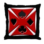 Ace Biker Iron Maltese Cross Throw Pillow