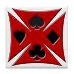 Ace Biker Iron Maltese Cross Tile Coaster