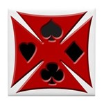 Ace Biker Iron Maltese Cross Tile Coaster
