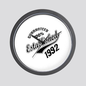 Guaranteed 100% Established 1992 Wall Clock