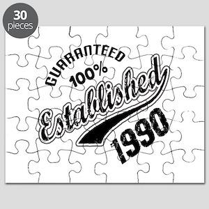 Guaranteed 100% Established 1990 Puzzle