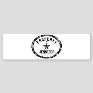 Property of Jennifer Bumper Sticker