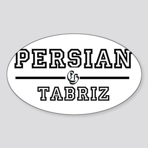 Persian Tabriz Oval Sticker