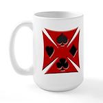 Ace Biker Iron Maltese Cross Large Coffee Cup