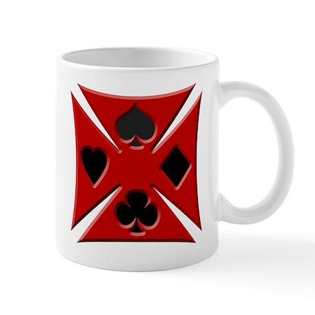 Ace Biker Iron Maltese Cross Coffee Mug