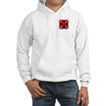 Ace Biker Iron Maltese Cross Hooded Sweatshirt