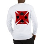 Ace Biker Iron Maltese Cross Long Sleeve T-Shirt