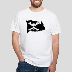 Skull & Crossbones (Worley) White T-Shirt