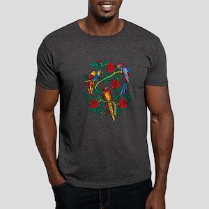 Parrots Tattoo Dark T-Shirt