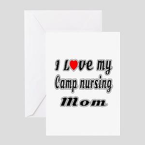 I Love My Camp nursing Mom Greeting Card