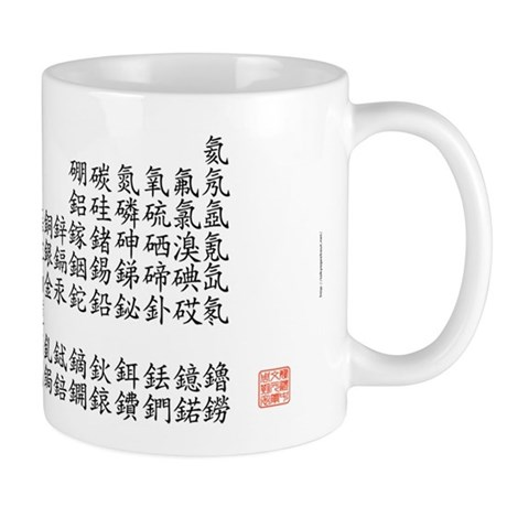 Periodic table in traditional chinese mug by tgozptmono periodic table in traditional chinese mug front urtaz Choice Image