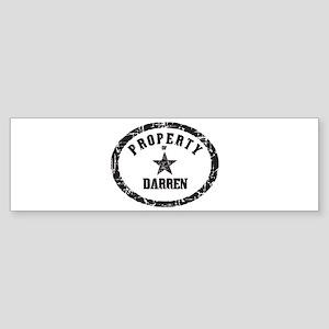 Property of Darren Bumper Sticker