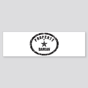 Property of Darian Bumper Sticker