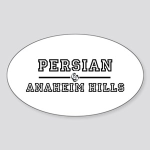 Persian Anaheim Hills Oval Sticker
