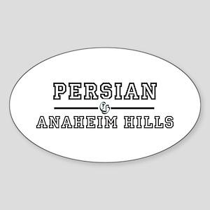 Persian Anaheim Hills Oval Sticker