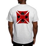 Ace Biker Iron Maltese Cross Ash Grey T-Shirt