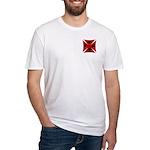 Ace Biker Iron Maltese Cross Fitted T-Shirt