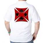 Ace Biker Iron Maltese Cross Golf Shirt