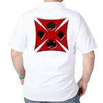 Ace Biker Iron Maltese Cross Golf Shirt