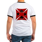 Ace Biker Iron Maltese Cross Ringer T