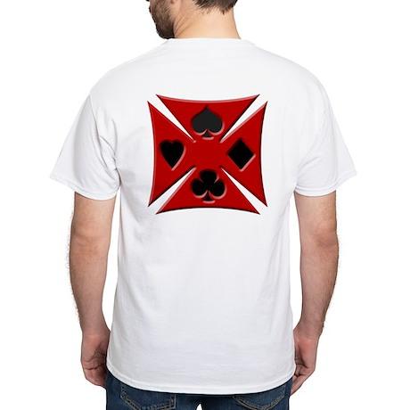 Ace Biker Iron Maltese Cross White T-Shirt