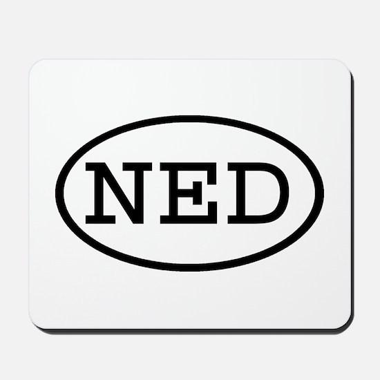 NED Oval Mousepad