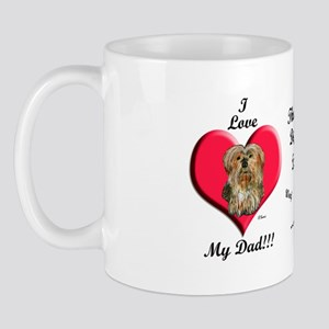 Yorkie Father's Day Mug
