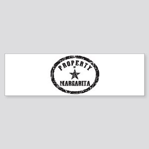 Property of Margarita Bumper Sticker