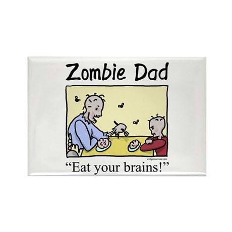 Zombie dad Rectangle Magnet (10 pack)