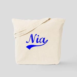 Vintage Nia (Blue) Tote Bag