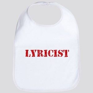 Lyricist Red Stencil Design Baby Bib