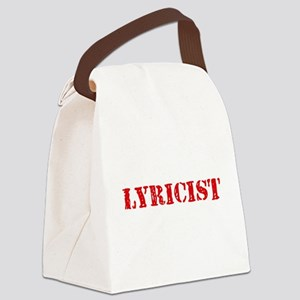Lyricist Red Stencil Design Canvas Lunch Bag