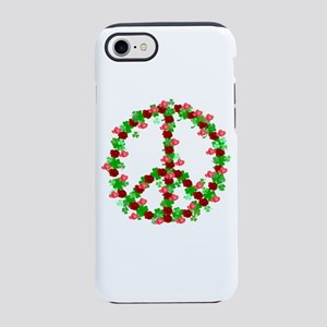 Roses and Clover Peace Sign iPhone 8/7 Tough Case