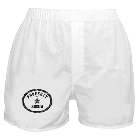 Property of Krista Boxer Shorts