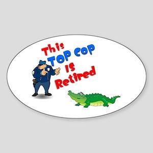 Top Cop 1 Oval Sticker