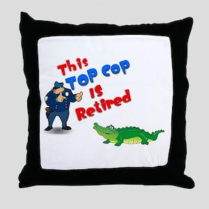 Top Cop 1 Throw Pillow